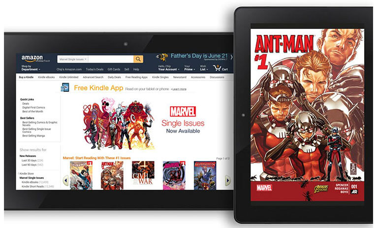Kindle Unlimited with thousands of comics
