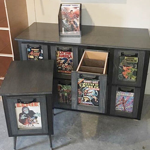comic book storage drawers