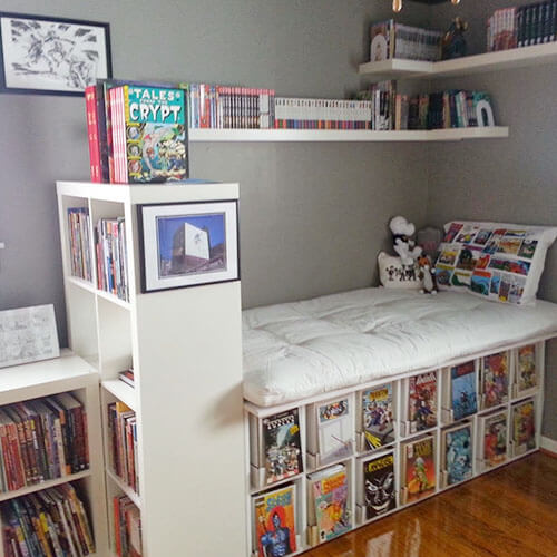 storing comic books under bed